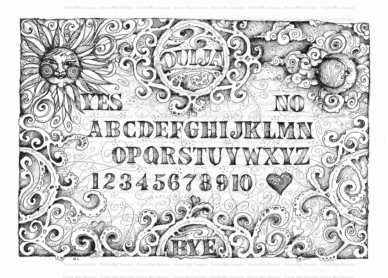 Nerdy image pertaining to printable ouija board