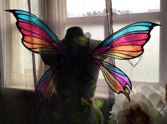 Large Rainbow Fairy Wings Verkleiden & Kostüme Mäntel