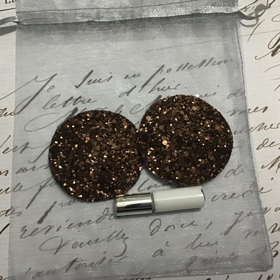 Sexy Chocolate Brown Small Pasties  Nipple Covers -6198