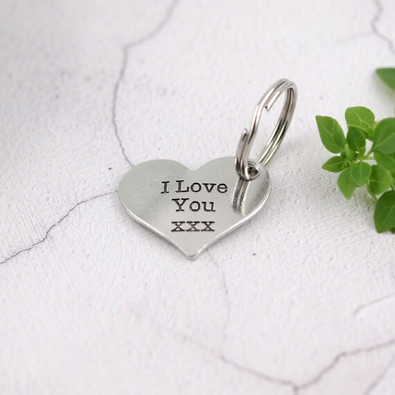Love You Dad xx Pewter Heart Key Ring by Multiply Design