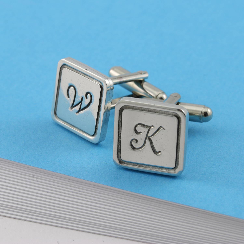 Initials Cufflinks Gift For Mensquare Cufflinkscufflinks Giftbest