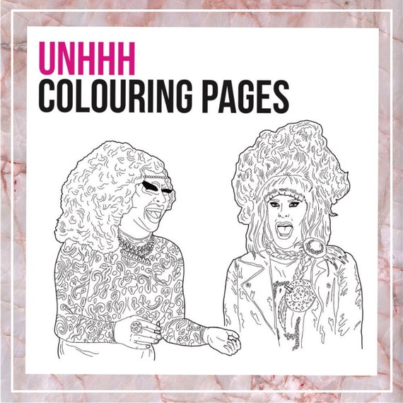 Superior UNHhh Trixie And Katya Drag Queen Colouring Pages | Etsy