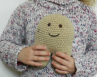 Plush, amigurumi crochet potato, handmade Christmas gifts