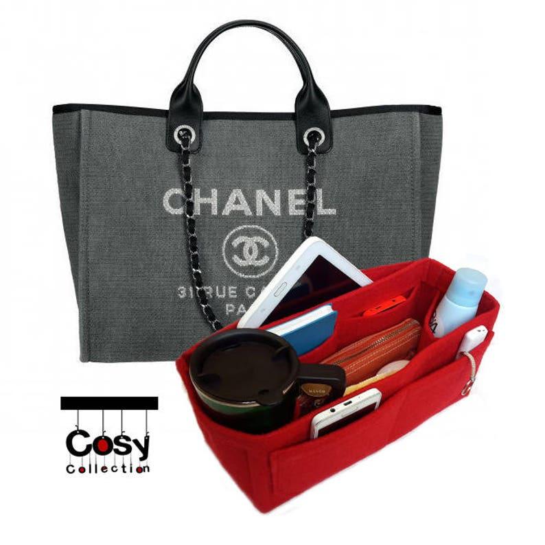 baf28c90213 Organisateur de sac Chanel Chanel Deauville toile de sac
