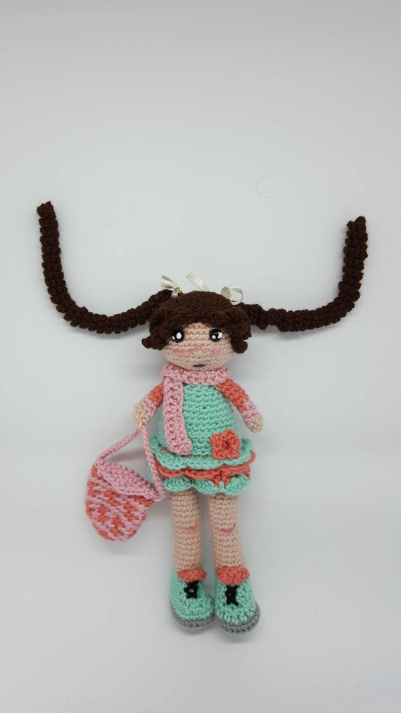 Muñeca de crochet. Muñeca para niñas. Amigurumi muñeca. Regalo | Etsy
