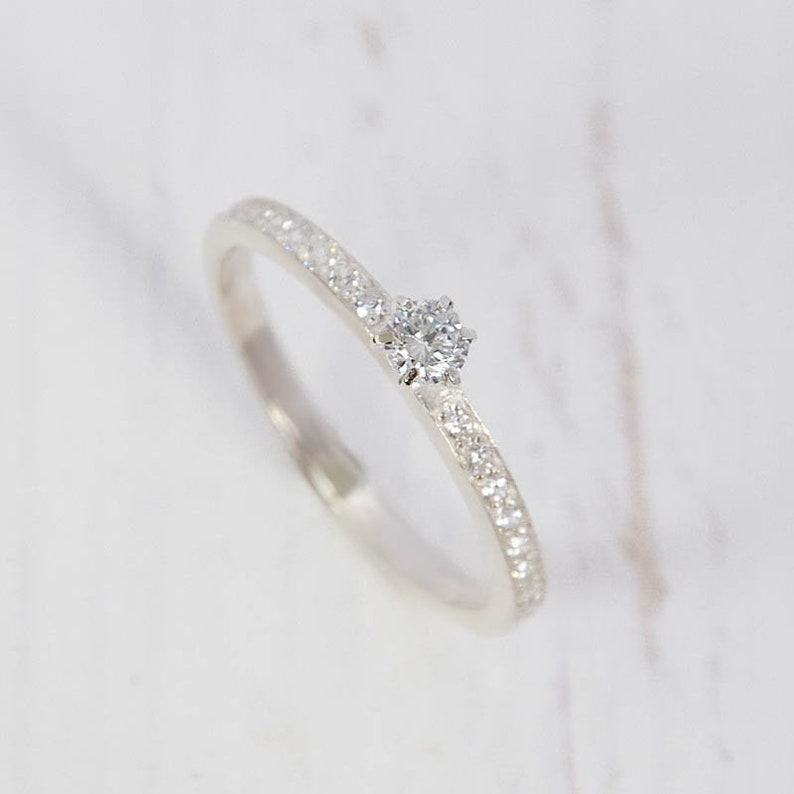 White topaz ring Silver ring women Silver ring for her image 1