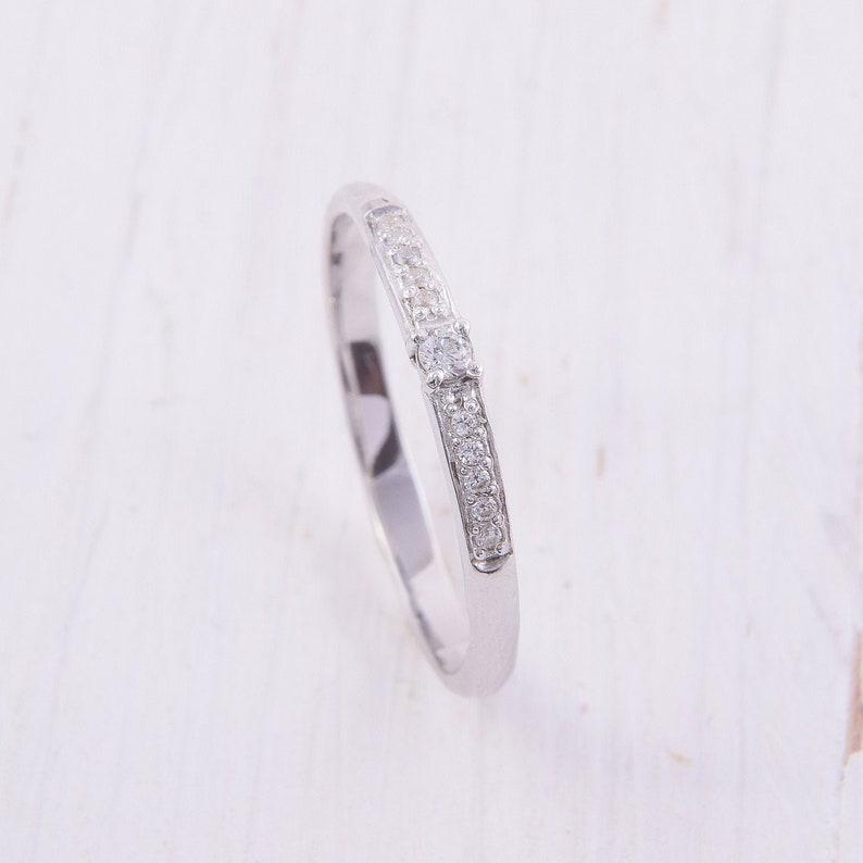 Fashion Femmes Ronde Classique Coupe Gemme Zircone Cubique Dainty Tennis Bracelet