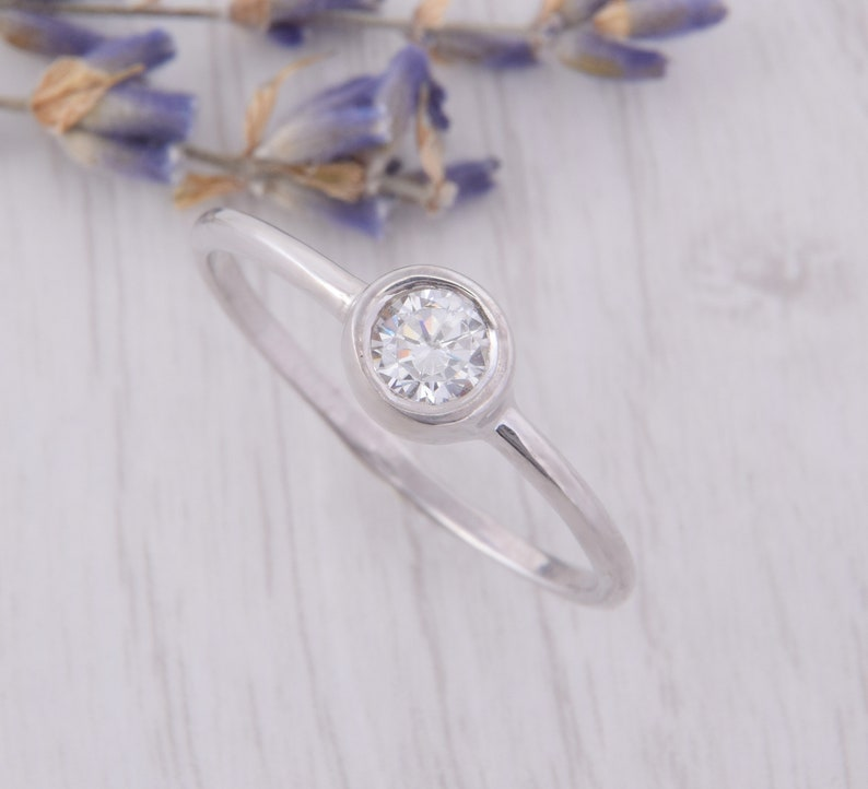 Womens Simple Promise Ring Dainty Promise Ring Delicate Promise Ring Small Silver Ring Minimalist Promise Ring