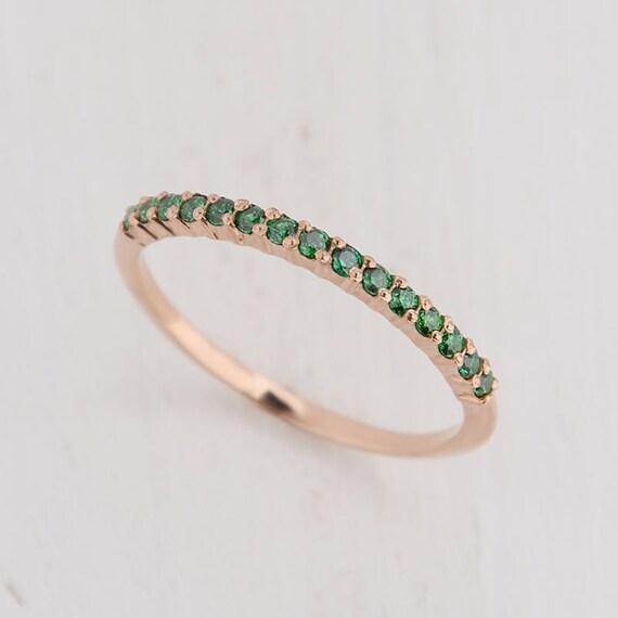 Emerald Wedding Band.Emerald Ring Gold Emerald Wedding Band Emerald Wedding Ring Emerald Band Gold Gold Wedding Ring Tiny Wedding Band Green Wedding Band