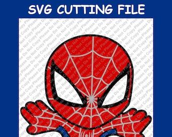 ON SALE~ SVG Cut File~ Spiderman Super Hero Cut File~Silhouette Cut File~Cameo Cut File~Cricut Cut File ~Single Layer~ ~