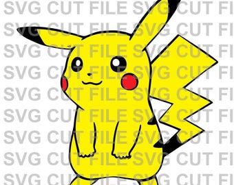 SVG Cut File~ Pikachu Multi Layer Cut File~Silhouette Cut File~Cameo ~Cricut ~~