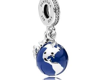 0672bd01d Pandora Mickey Mouse Globe Charm