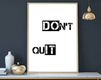 Do it poster, Minimalist art, motivation print, printable typography, inspirational print, wall art