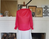 New old stock - Pink blouse from the 1960s. Size EU 34-36 / UK 6-8 / US 2-4