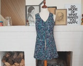 "Flower power summer ""dress"" or rather west from the late 1960s. Size EU 36 / UK 10 / US 6."