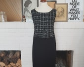 Day / cocktail / (formal wear) dress from the 1960s. Jackie look. Size EU 36 / UK 8 / US 4. Chest 88 cm / 34,6 inches