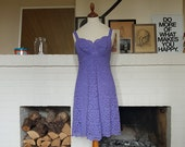 Beautiful purple coktail dress from the 1960s. Size EU 34-34 / UK 6-8 / US 2-4