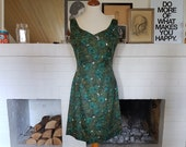 Day dress / form-fitting dress / summer dress from the 1950s / 1960s. Size EU 36-38 / UK 10-12 / US 6-8. Waist 76 cm / 29,9 inches