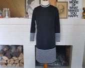 Dress from the 1960s. Size EU 38 / UK 10 / US 6. Chest 95 cm / 37,4 inches