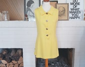Day / Summer / go-go dress from the late 1960s possible the 1970s. Size EU 38 / UK 10 / US 6. Waist 80 cm / 31,5 inches