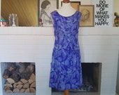 Silk dress / Cocktail dress / party dress from the 1960s.  Size EU 36 / UK 10 / US 6. Waist 76 cm / 29,9 inches