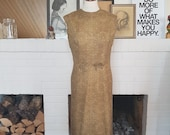 Day / Summer dress from the 1960s.  Size EU 36-38 / UK 8-10 / US 4-6. Waist 76 cm / 29,9 inches