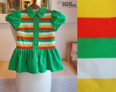 Child day dress from the late 1960s or the 1970s. A vintage child size 110 - vintage sizes tend to be smaller so please look at measurements