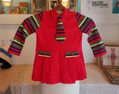Childrens dress from the late 60s or possible tje 1970s. Vintage kids size 104.