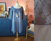 Nightgown / lingerie from the 1960s. Old stock. New with tags. Dead stock. Size EU 36-38 / UK 10-12 / US 6-8. Chest 92 cm / 36,2 inches