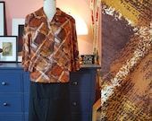 Lovely jacket / shirt from the 1950s/1960s. Size EU 44-46 / UK 18-20 / US 14-16. Chest 110 cm / 43,3 inches