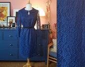 Day dress from the 60s. Cocktail dress from the 1960. Size EU 40 / UK 14 / US 10. Chest 100 cm / 39,4 inches
