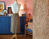 Pencil skirt from the 1950s. Mohair skirt. Size EU 34 / UK 8 / US 4.  Waist 70 cm / 27,6 inches