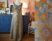 Evening dress from the 1960s. Maxi 60s dress. Size EU 36 / UK 10 / US 6. Chest 88 cm / 34,6 inches