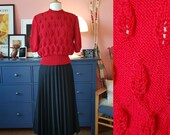 Amazing blouse hand knitted after 1940s pattern - home made and new. Size EU 38-42 // UK 12-16 // US 8-12