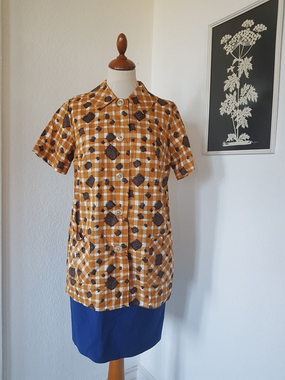 Lovely jacket  shirt from the 1950s1960s Chest 110 cm  43,3 inches Size EU 44-46  UK 18-20  US 14-16
