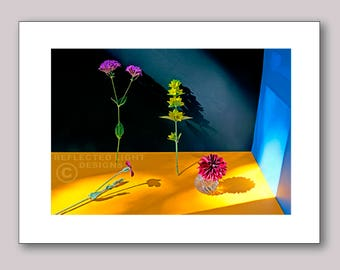 Photo Note Card, Standing Blossoms