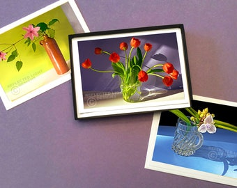 Boxed Set of 12 Flower & Shadow Photo Note Cards