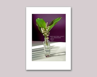 Photo Note Card, Lily of the Valley