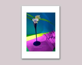 Photo Note Card, Spiderwort
