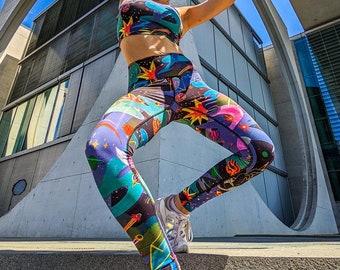 Yoga Leggings 'Door of the Cosmos' - Bambus mit Baumwolle / Bamboo Cotton - nachhaltig / eco-friendly - hoher Bund / highwaist - women