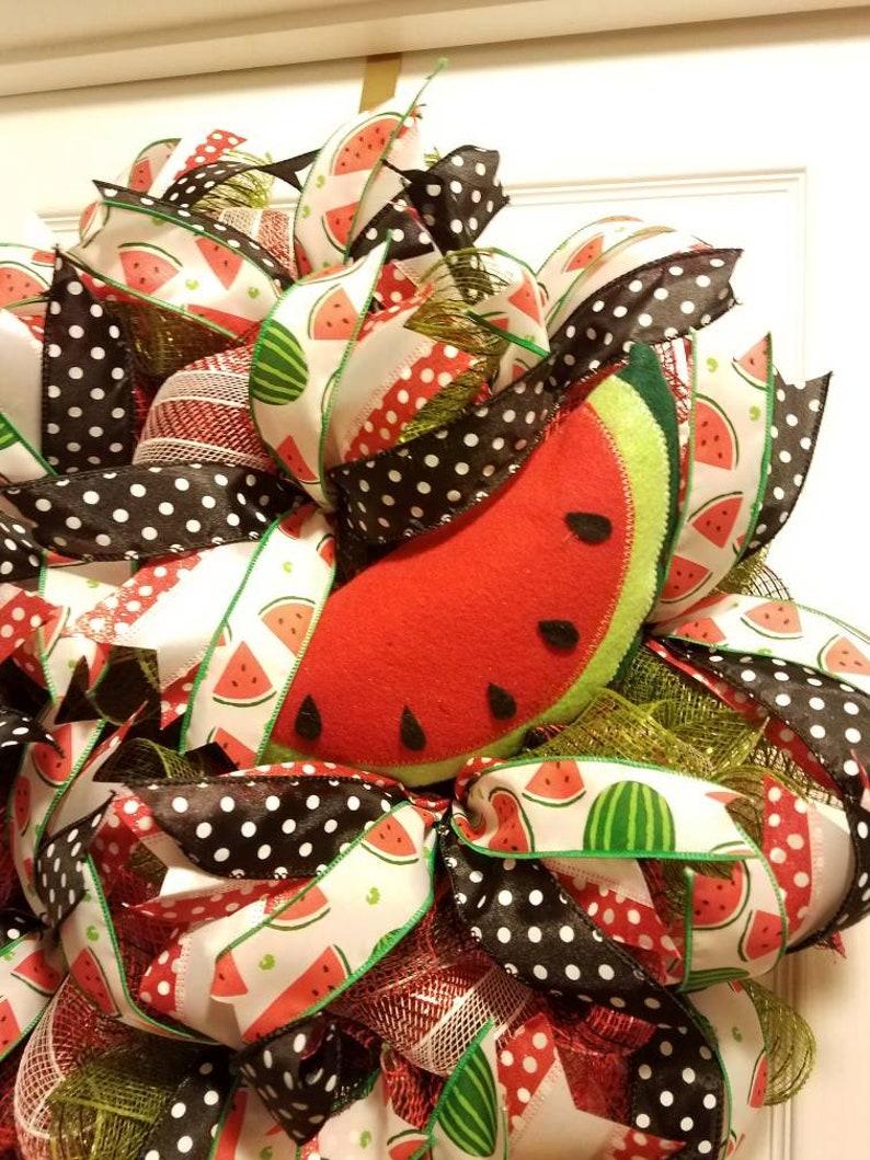 Watermelon Wreath,summertime wreath,Summertime Product Line,Wreathsbycarol2016