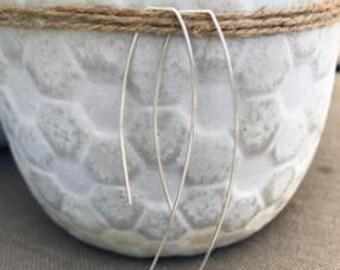 Sterling Silver Simple Hook Earrings
