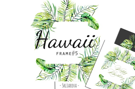 Floral Frame Clipart Tropical Leaves Frame Png Watercolor Etsy Flower frame, hand painted watercolor tropical borders, floral, border, watercolor painting png. etsy