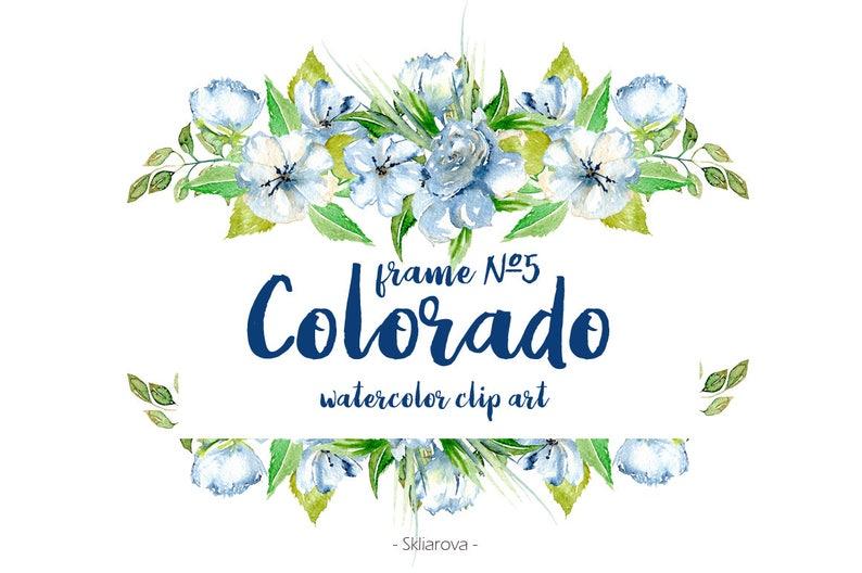 Floral Frame Blue