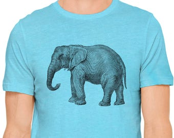 4e3562ef25 Austin Ink Apparel Majestic Elephant Jungle Animal Print Short Sleeve Cotton  Mens T-Shirt