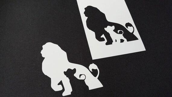 Set of 6pcs Lion King style Simba Zazu Rafiki Timon Airbrush Stencils Face Paint