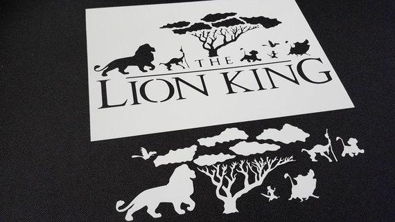 Airbrushing Supplies Lion King Inspired Airbrush Stencils Silhouette Simba Nala Wedding Cake Paint Kisetsu System Co Jp
