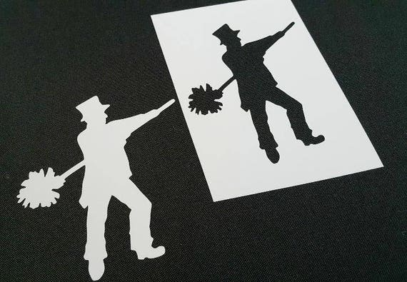Mary Poppins Movie Mylar Airbrush Painting Wall Art Stencil
