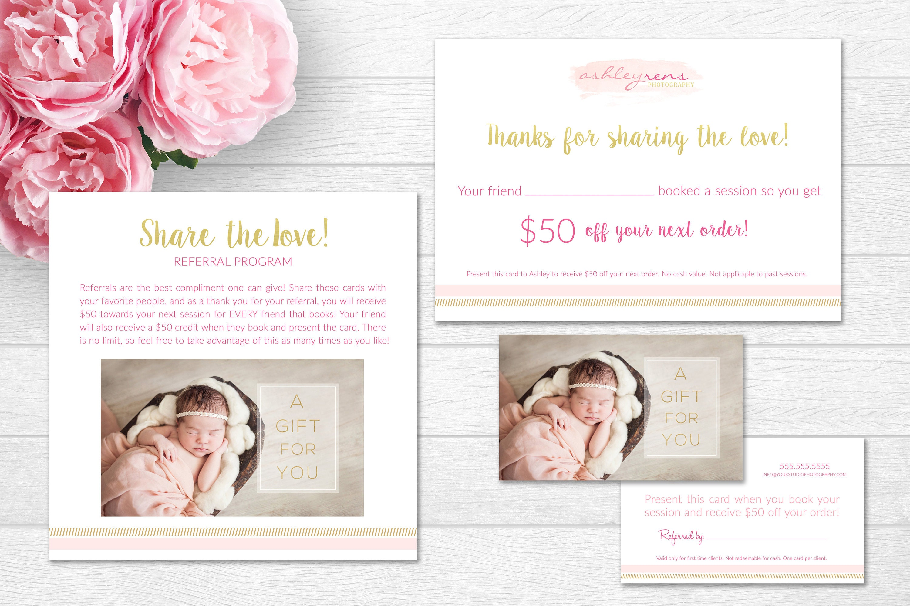 Photography Referral Program Templates Referral Cards Etsy