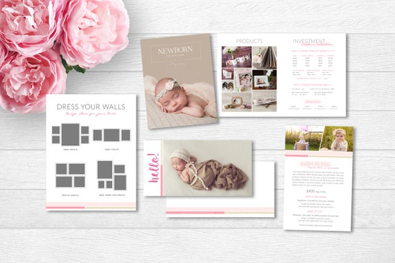 Newborn photography welcome guide baby welcome packet baby